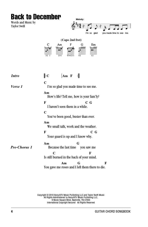 Taylor Swift Guitar Chord Songbook Lyricschord Symbolsguitar