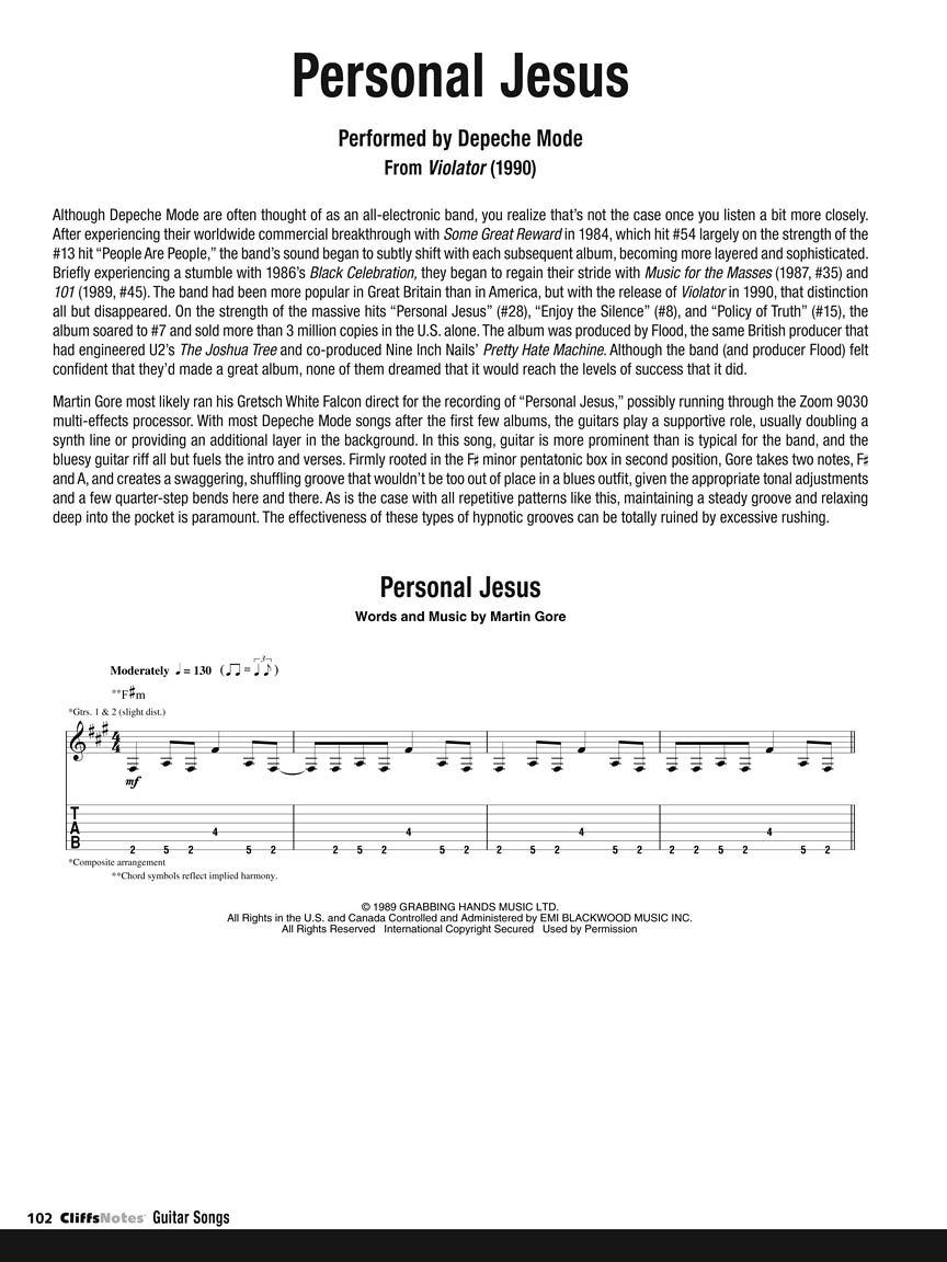 Cliffsnotes To Guitar Songs Guitar Tab By Chad Johnson Guitar