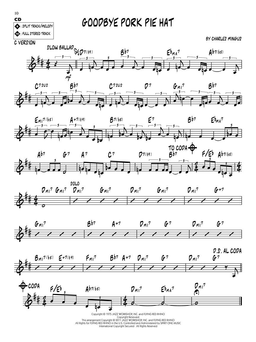 recipe: goodbye pork pie hat piano sheet music [17]