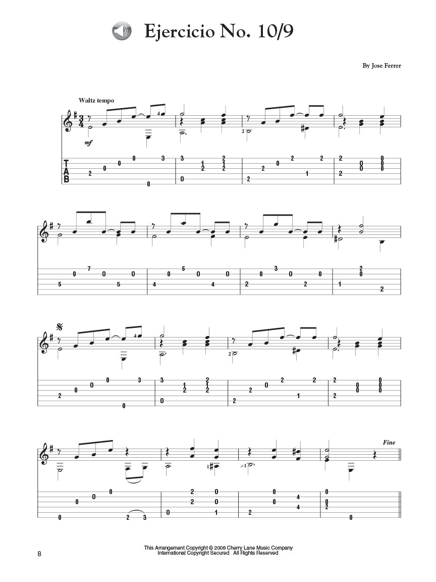 30 Easy Spanish Guitar Solos Guitar Tab Arr Mark Phillips