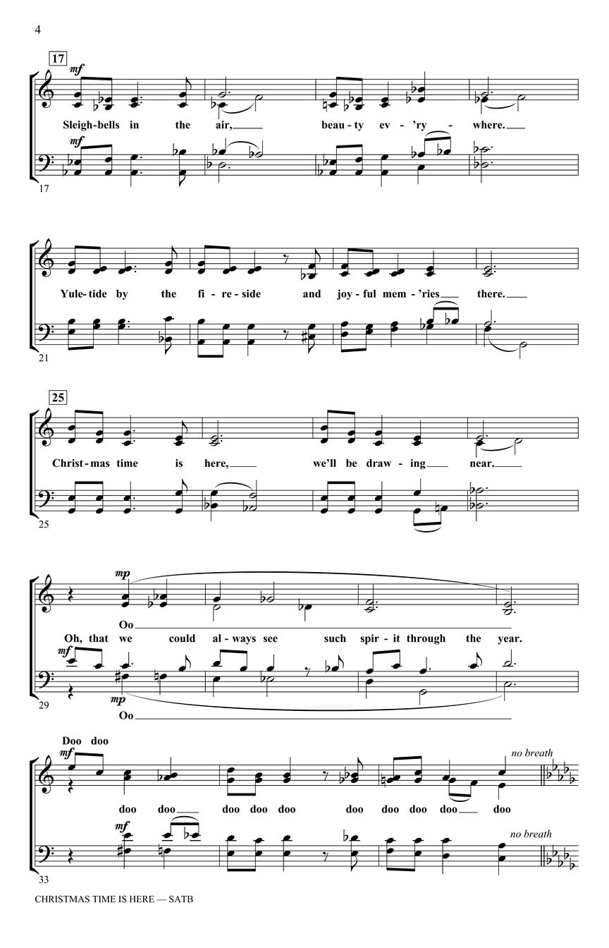 sample page 2 - Christmas Time Is Here Sheet Music