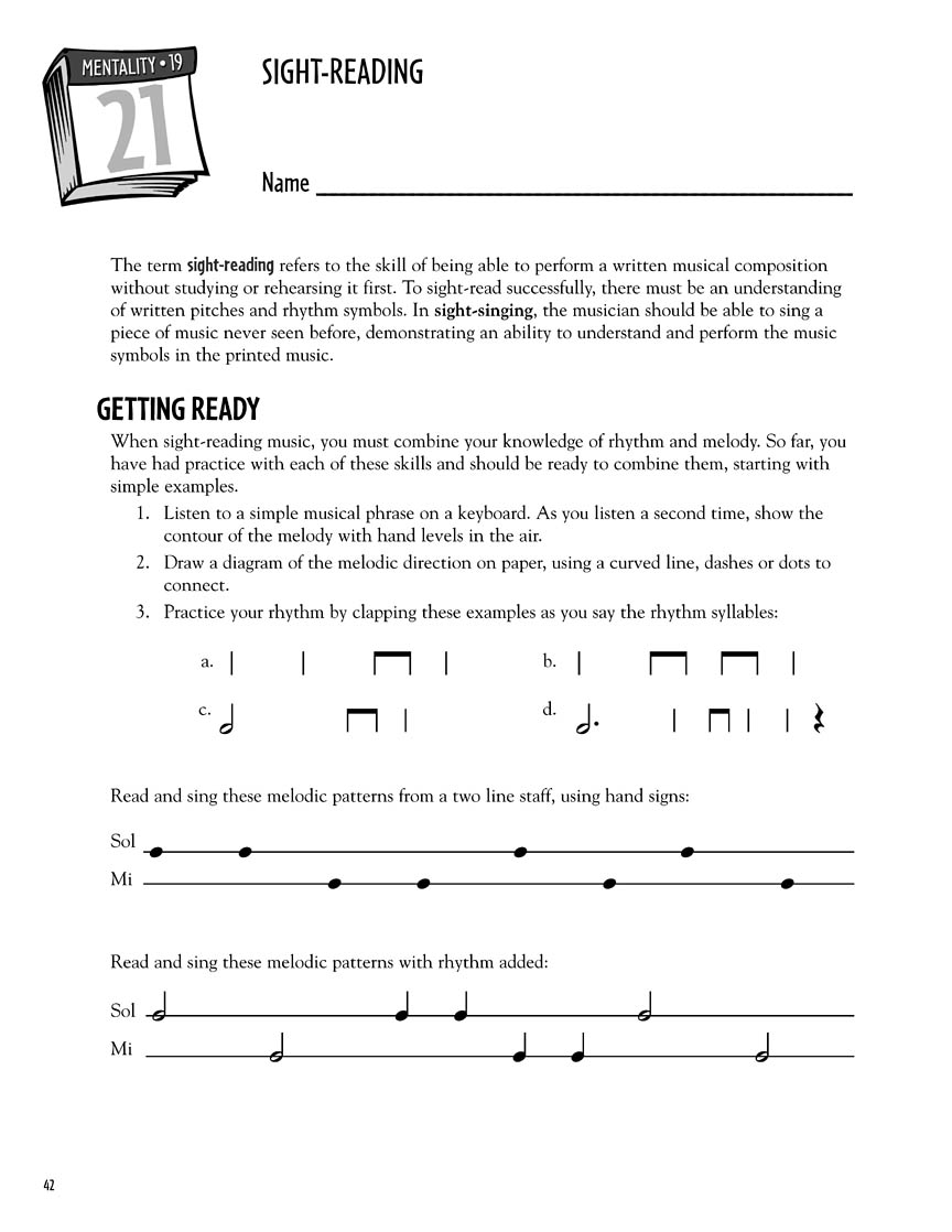 Thirty days to melody ready to use lessons and reproducible sample page 6 biocorpaavc Image collections