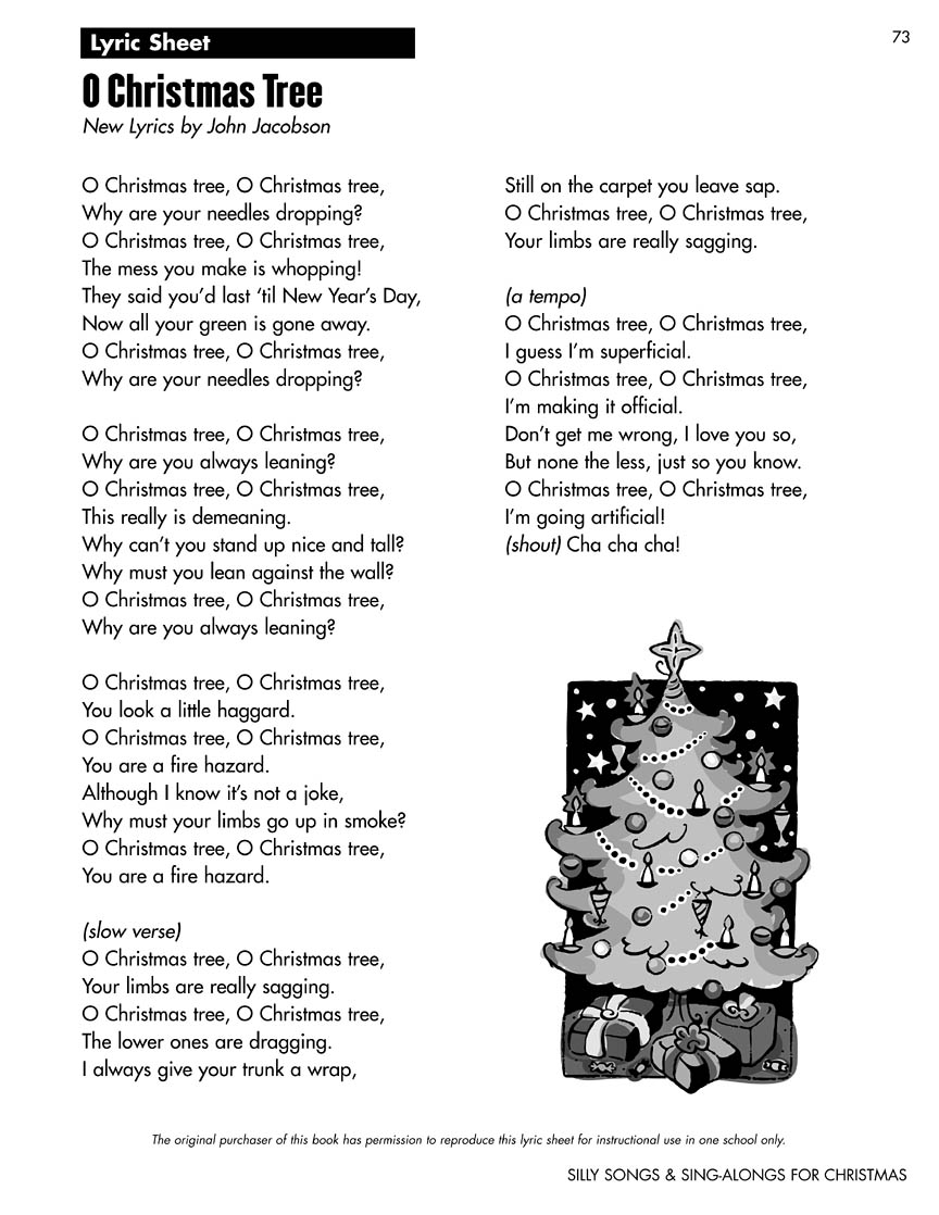 Silly Songs and Sing-Alongs for Christmas (Collection) : New Lyrics ...