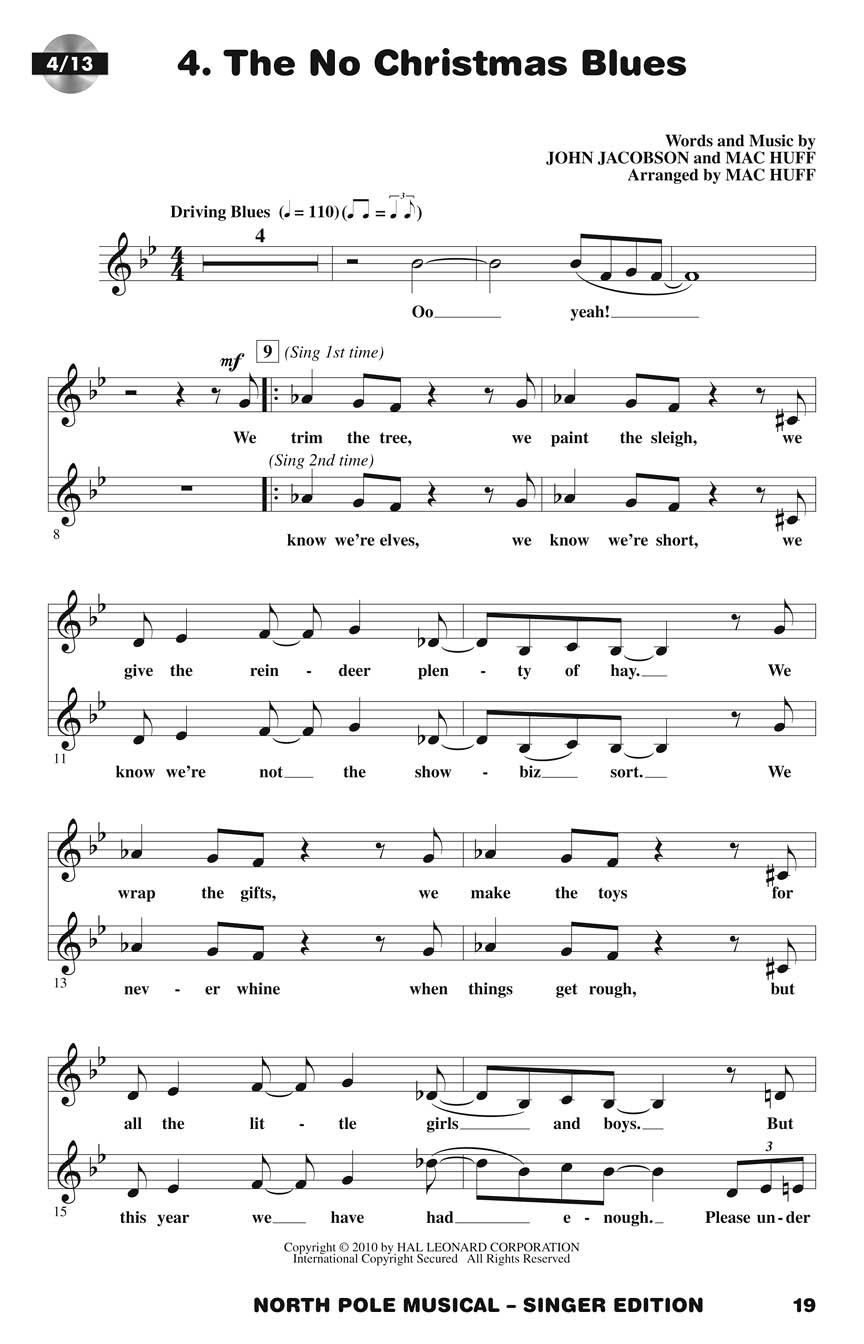 page samples - Christmas Blues Lyrics