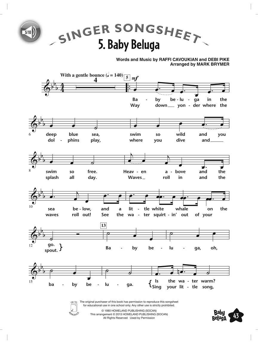 Lyrics for Baby Beluga - Raffi