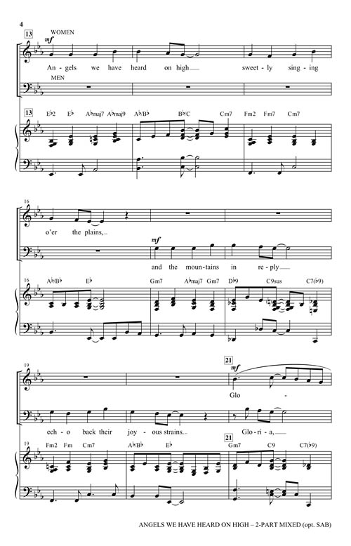 angels we have heard on high sheet music pdf