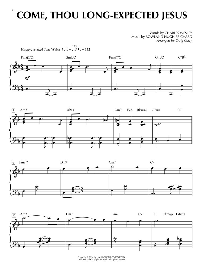 Christmas Jazz For Solo Piano 8 Spicy Settings By Craig Curry