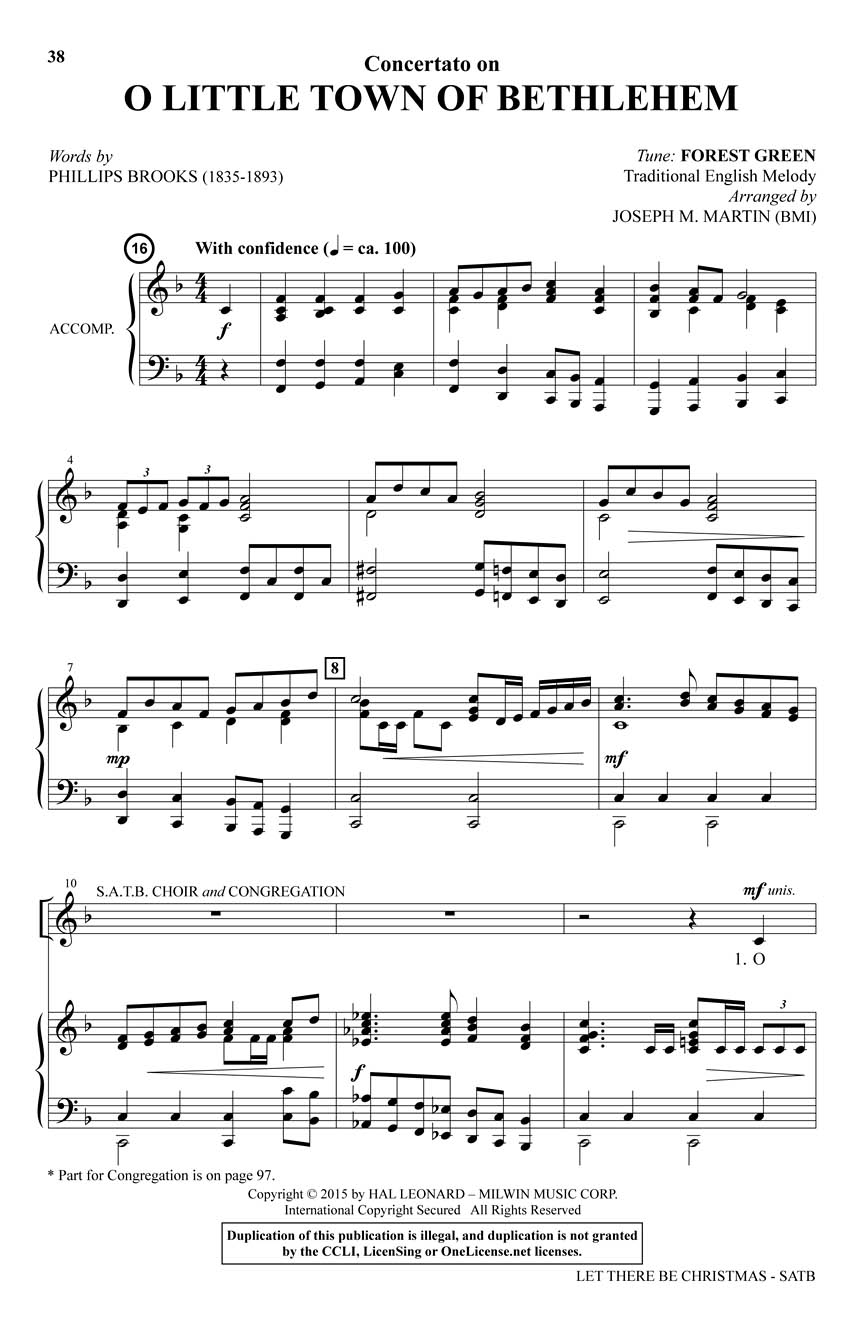Let There Be Christmas (SATB) : Joseph M. Martin : SATB : # 35030338