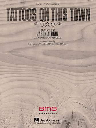 Tattoos on this town sheet music direct for Jason aldean tattoos on this town lyrics