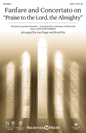 "Catherine Winkworth - Fanfare and Concertato on ""Praise to the Lord, the Almighty"" - Bb Trumpet 1,2"