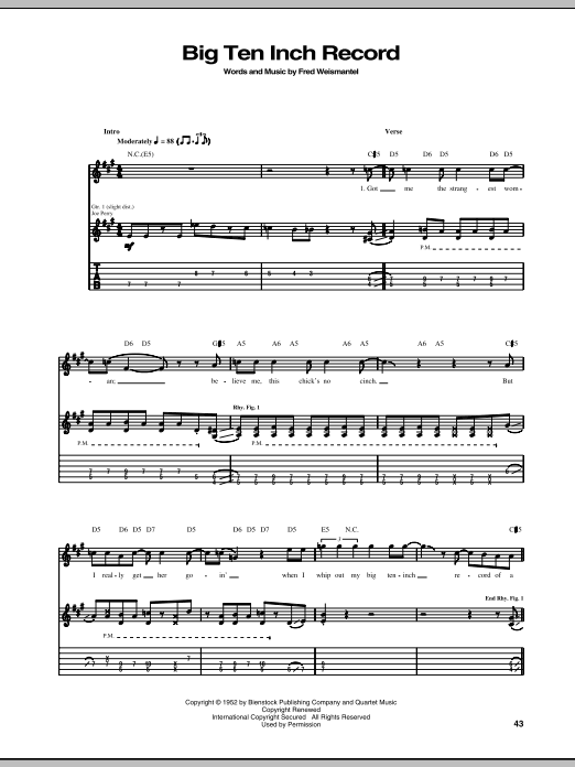 Tablature guitare Big Ten Inch Record de Aerosmith - Tablature Guitare