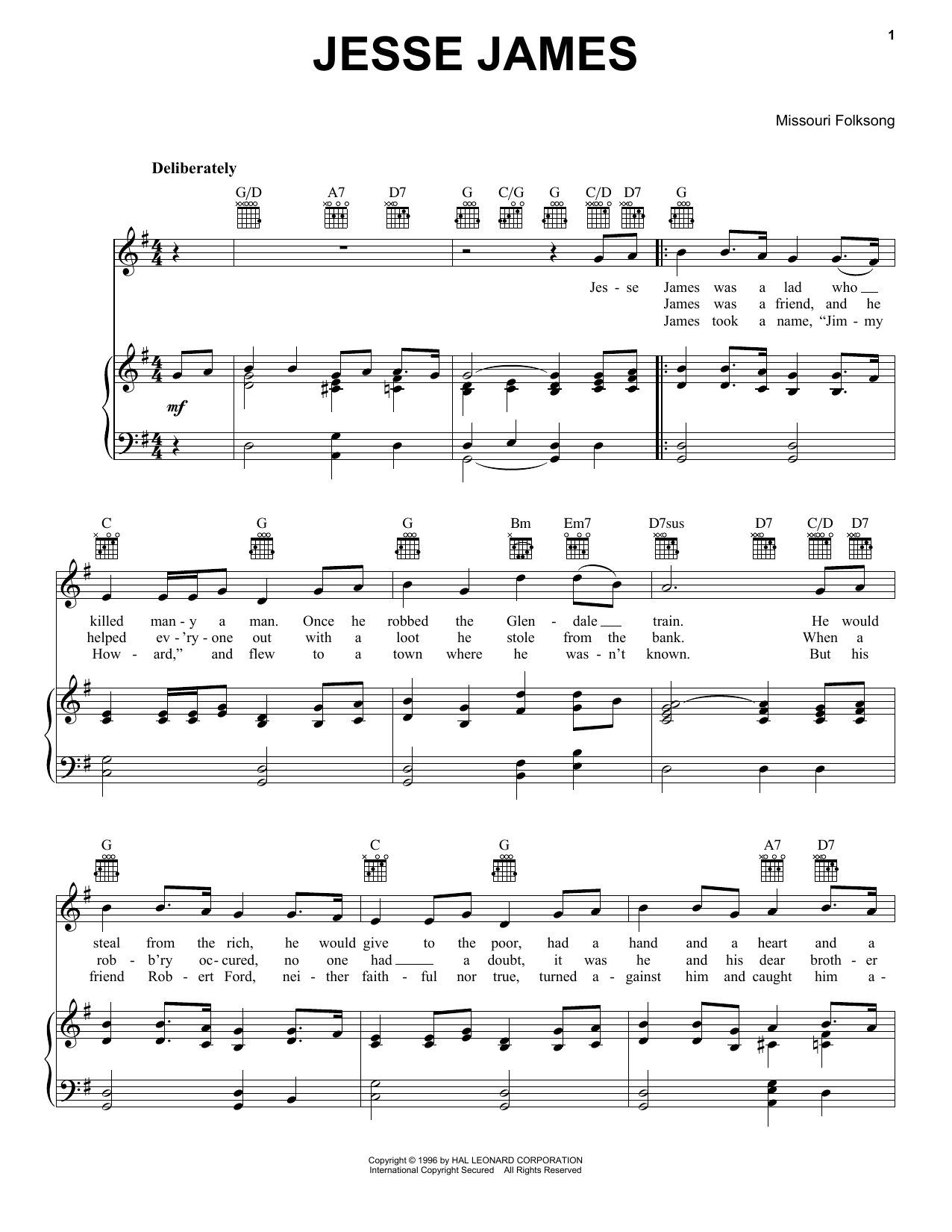 Jesse James | Sheet Music Direct - photo#15