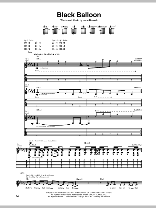 Sheet Music Digital Files To Print - Licensed Goo Goo Dolls Digital ...
