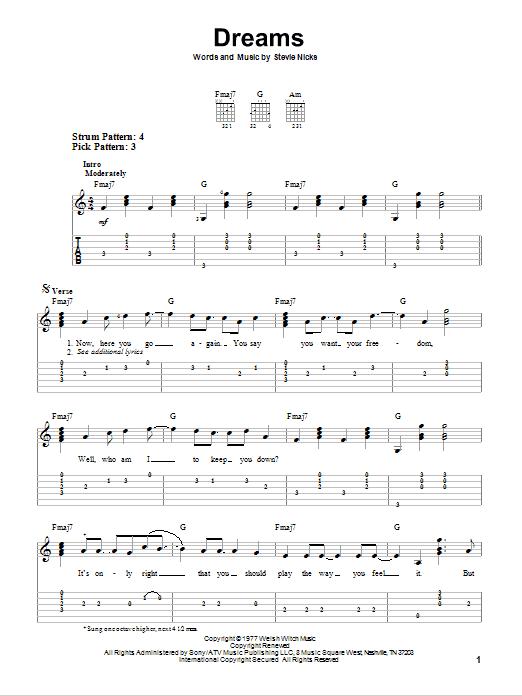 Sheet Music Digital Files To Print - Licensed Stevie Nicks Digital ...