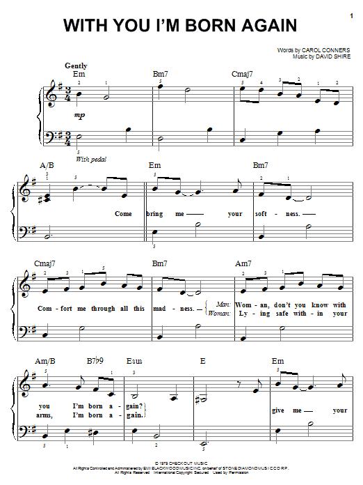 Partition piano With You I'm Born Again de Billy Preston & Syreeta - Piano Facile