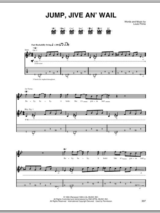 Tablature guitare Jump, Jive An' Wail de The Brian Setzer Orchestra - Tablature Guitare