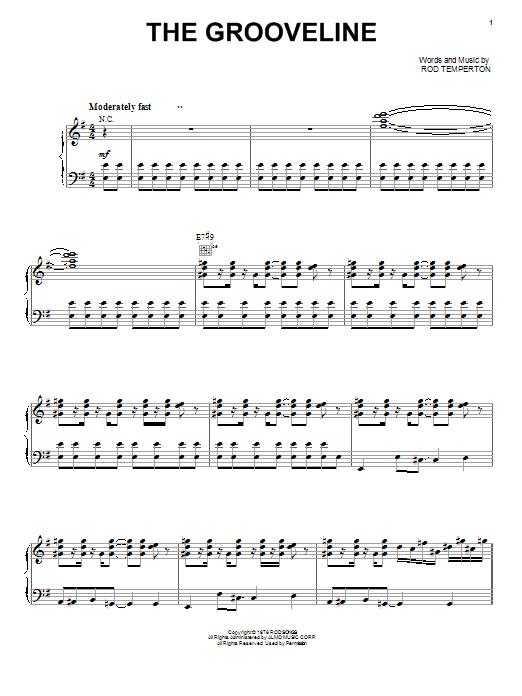 Partition piano The Grooveline de Heatwave - Piano Voix Guitare (Mélodie Main Droite)