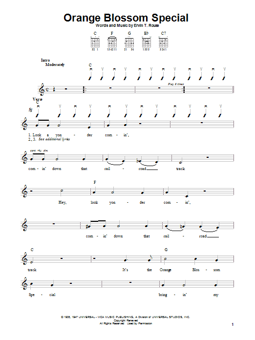 Tablature guitare Orange Blossom Special de Johnny Cash - Autre