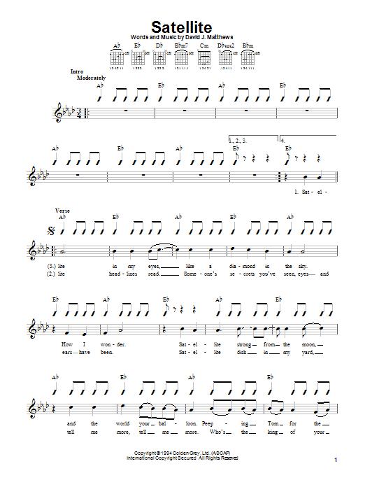 Tablature guitare Satellite de Dave Matthews Band - Autre