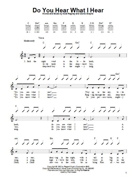 Tablature guitare Do You Hear What I Hear de Gloria Shayne - Autre