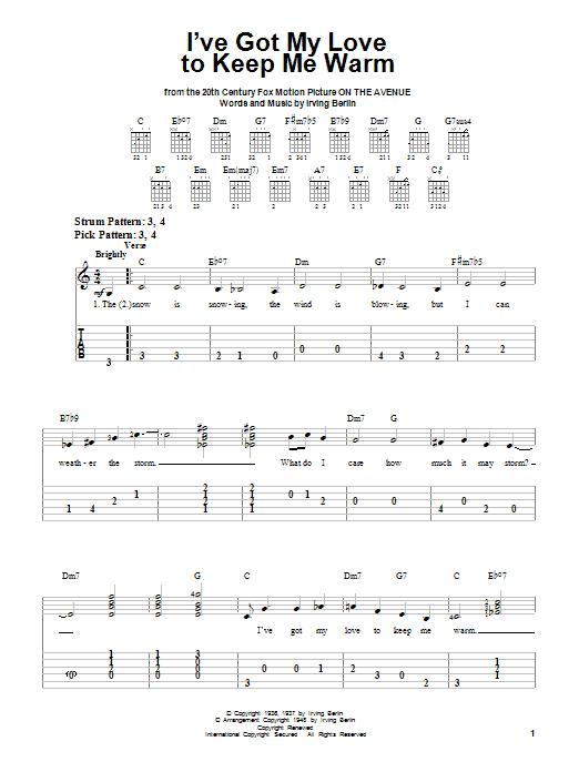 Tablature guitare I've Got My Love To Keep Me Warm de Irving Berlin - Tablature guitare facile