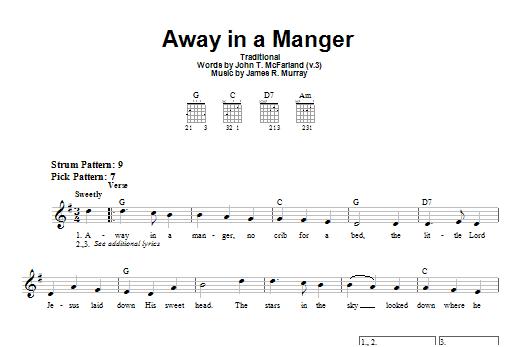 Tablature guitare Away In A Manger de James R. Murray - Tablature guitare facile