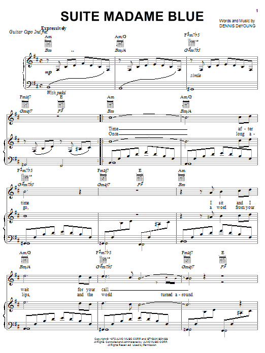Sheet Music Digital Files To Print Licensed Styx Digital Sheet Music