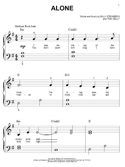 Partition piano Alone de Heart - Piano Facile
