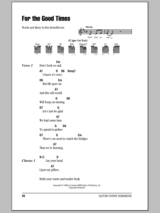 Sheet Music Digital Files To Print - Licensed Kris Kristofferson ...