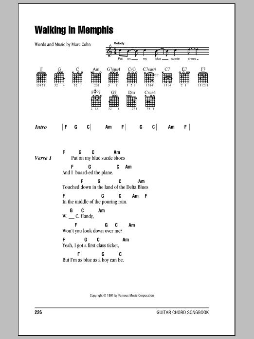 Walking In Memphis (Chords) - Ultimate Guitar Archive