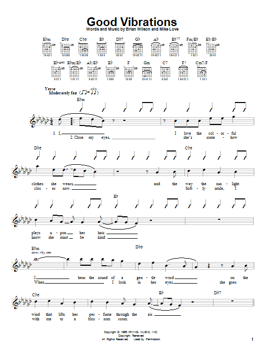 Tablature guitare Good Vibrations de The Beach Boys - Autre