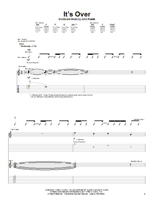 Tablature guitare It's Over de Goo Goo Dolls - Tablature Guitare