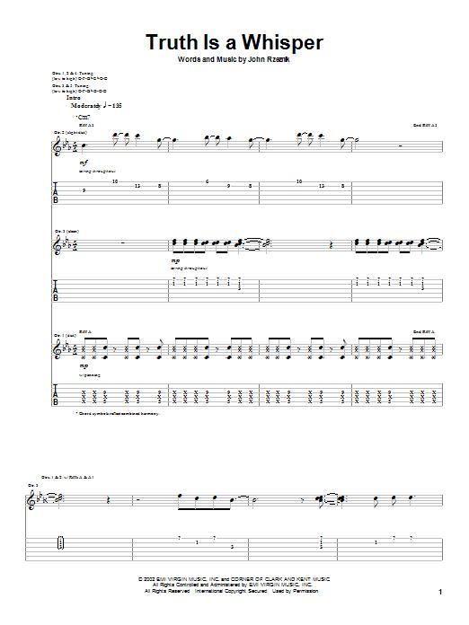 Tablature guitare Truth Is A Whisper de Goo Goo Dolls - Tablature Guitare