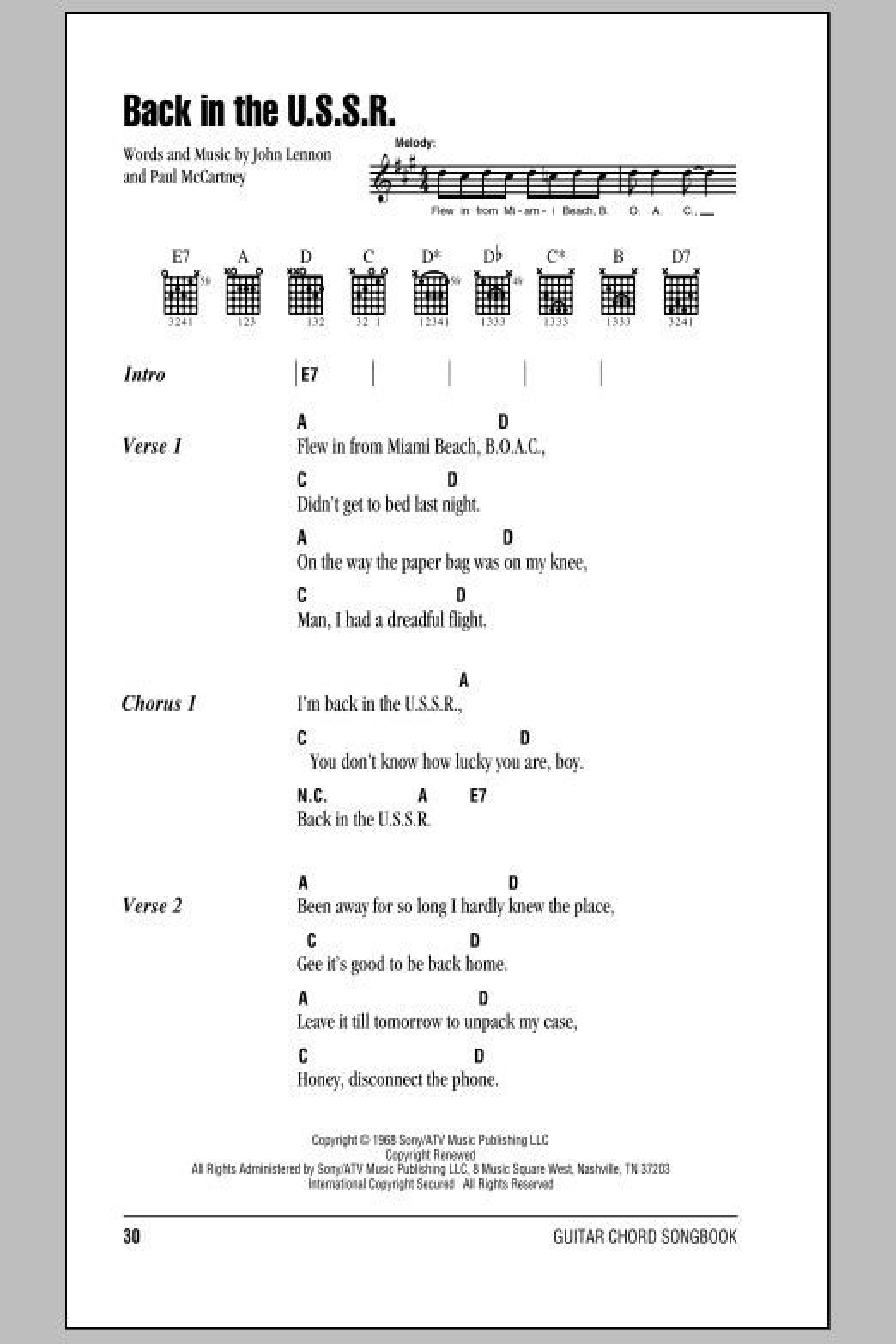 Sheet Music Digital Files To Print Licensed John Lennon Digital
