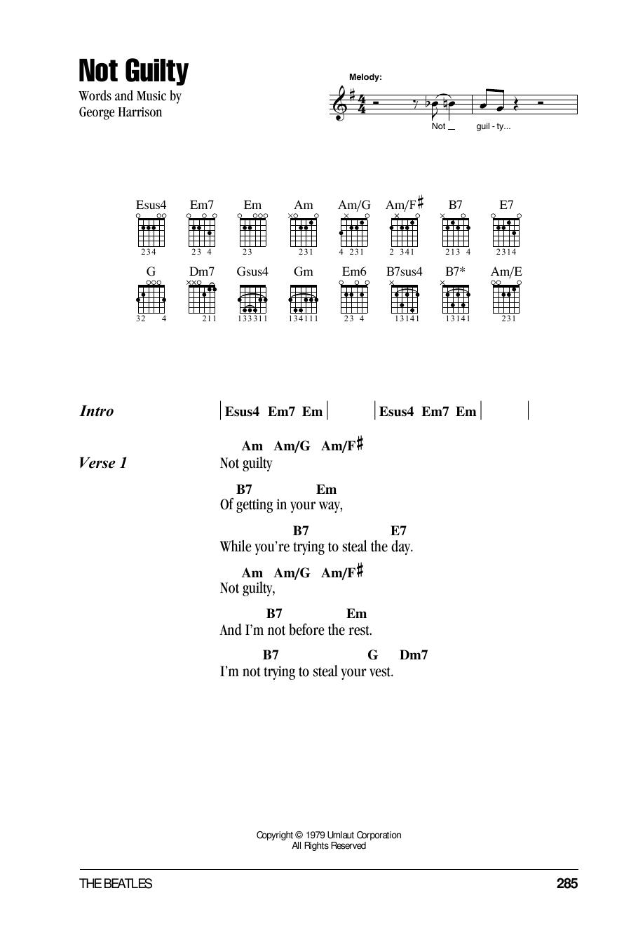 Sheet Music Digital Files To Print - Licensed George Harrison ...