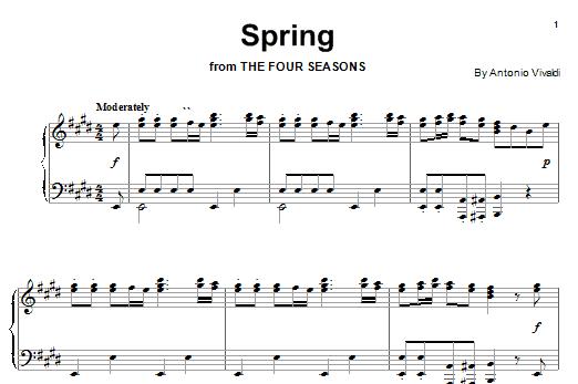 Antonio Vivaldi: Spring - Piano | Sheetmusicdirect.com