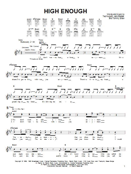 Who Sang High Enough? Damn Yankees - lyrics007.com