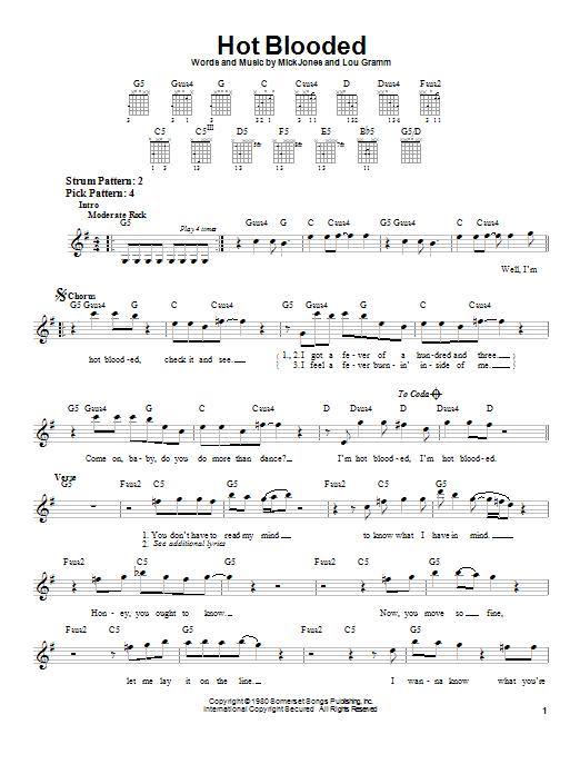 Sheet Music Digital Files To Print - Licensed Foreigner Digital ...