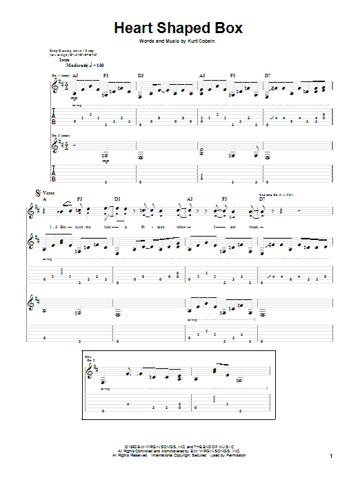 Heart Shaped Box by Nirvana - Guitar Tab - Guitar Instructor