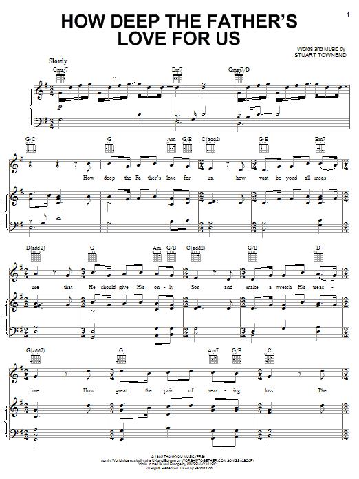 Sheet Music Digital Files To Print - Licensed Stuart Townend Digital ...