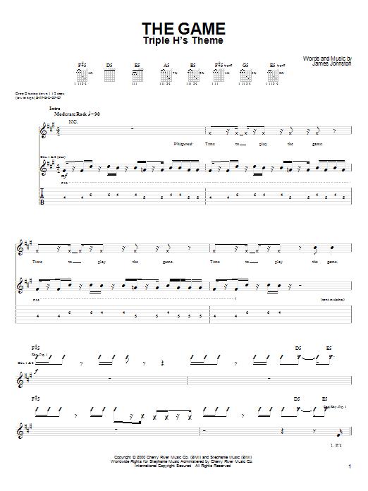Tablature guitare The Game de Drowning Pool - Tablature Guitare
