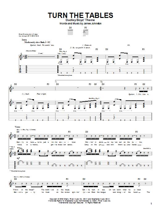 Tablature guitare Turn The Tables de Saliva - Tablature Guitare