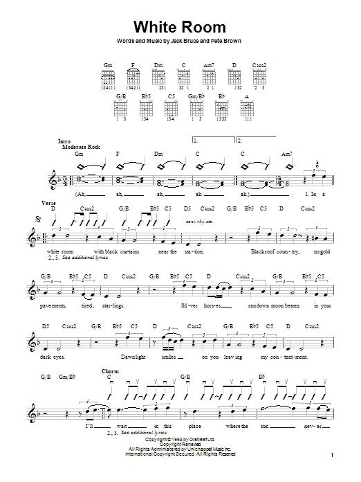 Tablature guitare White Room de Cream - Autre