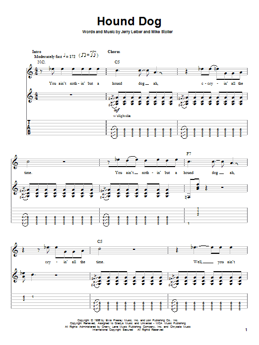 Hound dog song lyrics