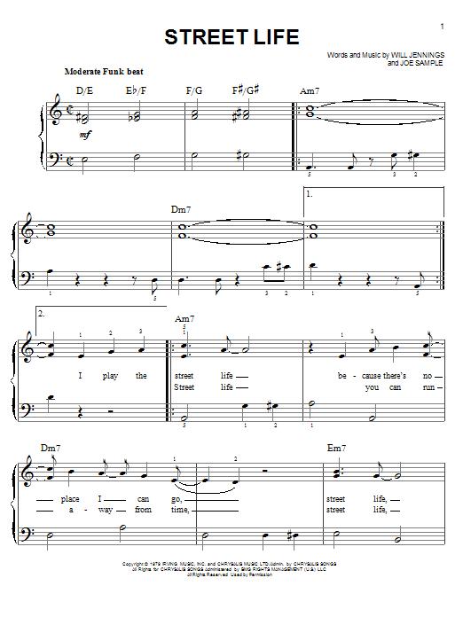 Partition piano Street Life de The Crusaders - Piano Facile