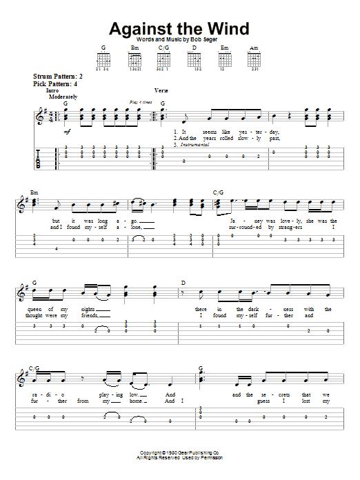 sheet music seger travelin
