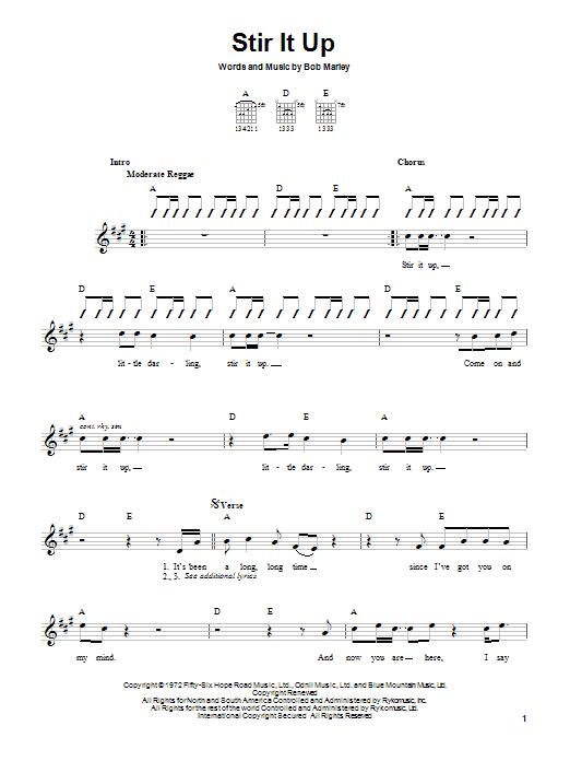 Tablature guitare Stir It Up de Bob Marley - Autre