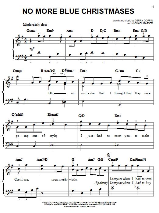 Partition piano No More Blue Christmases de Gerry Goffin - Piano Facile