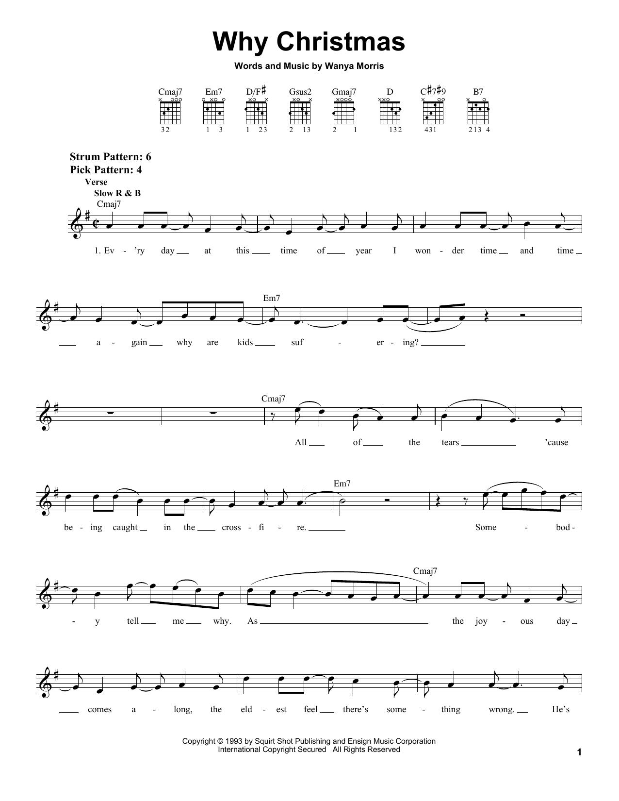 Tablature guitare Why Christmas de Boyz II Men - Tablature guitare facile