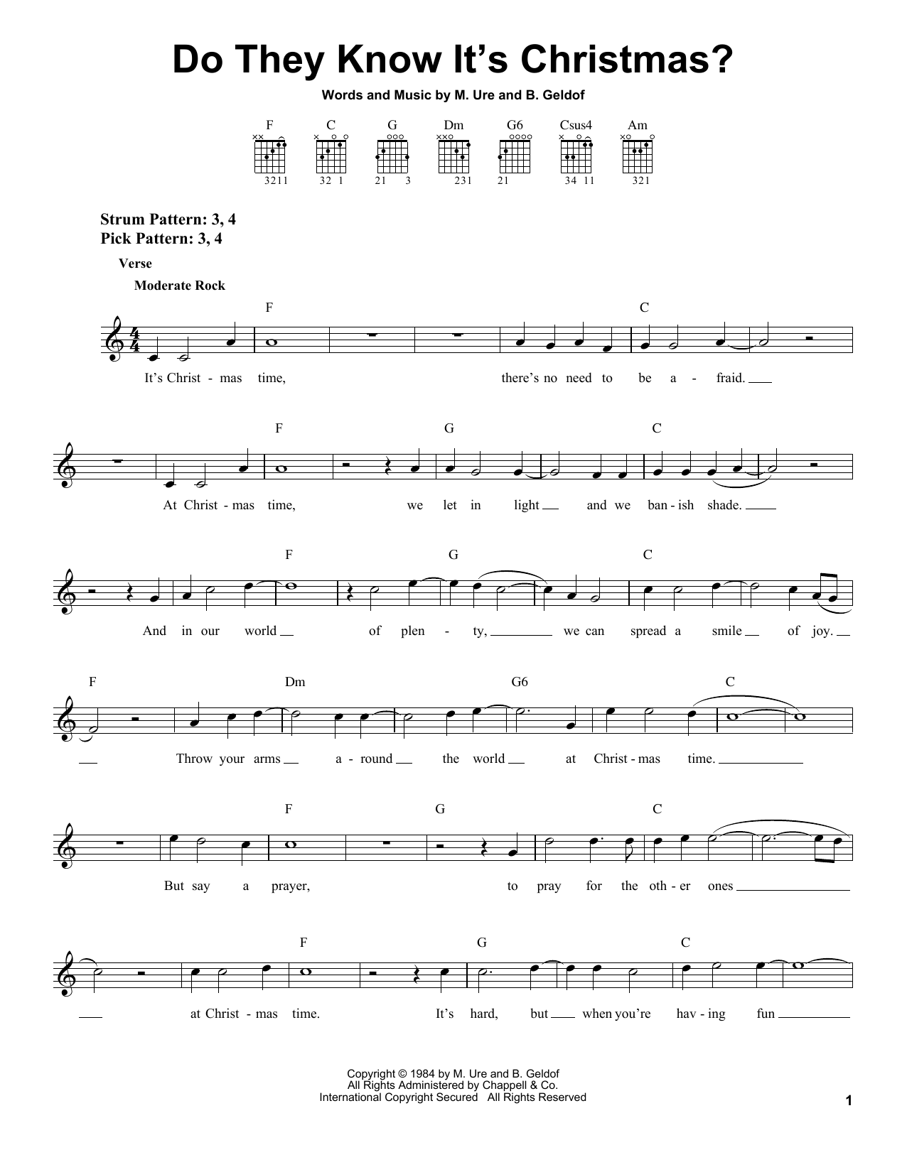 Sheet music digital files to print licensed easy guitar digital do they know its christmas hexwebz Image collections